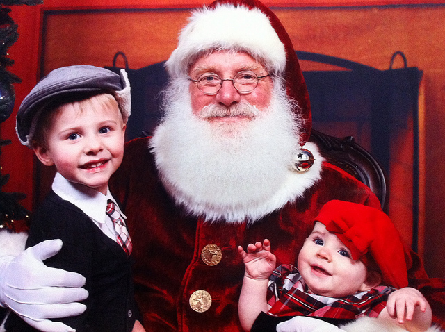 Santa with kids on lap