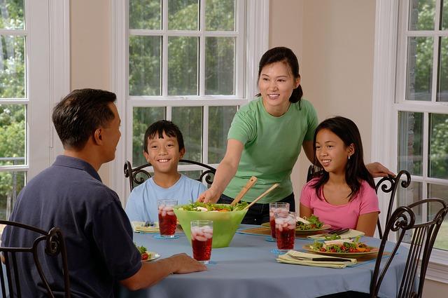 eating dinner as a family