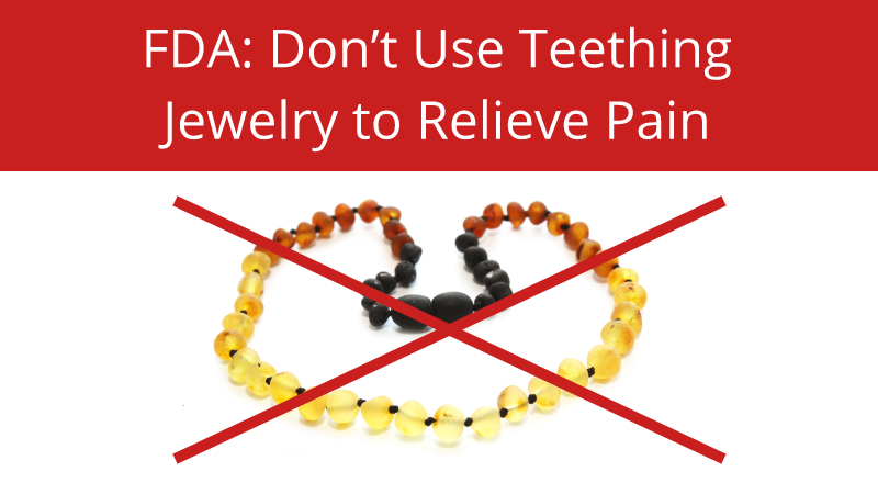 FDA: Don't Use Teething Jewelry to Relieve Pain